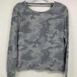 Sweet & Sinful Soft Camouflage Open Back Sweater